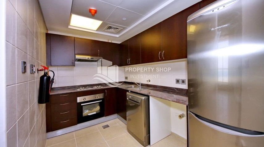 Kitchen-2BR with built in cabinet & balcony for rent in Mangrove Place.