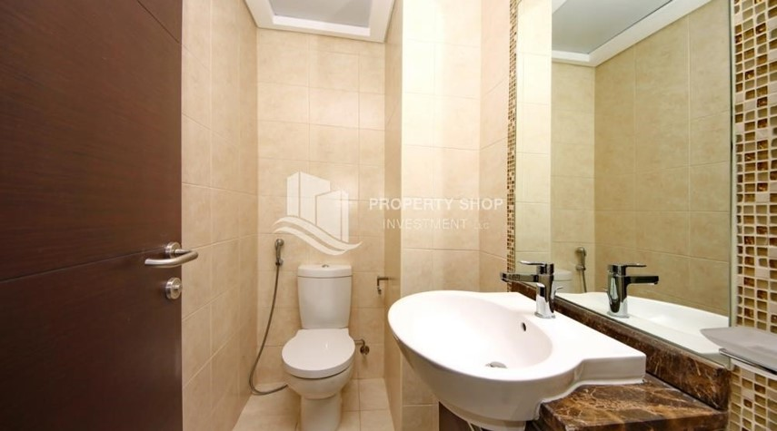Bathroom-2BR with balcony in Mangrove Place for rent.