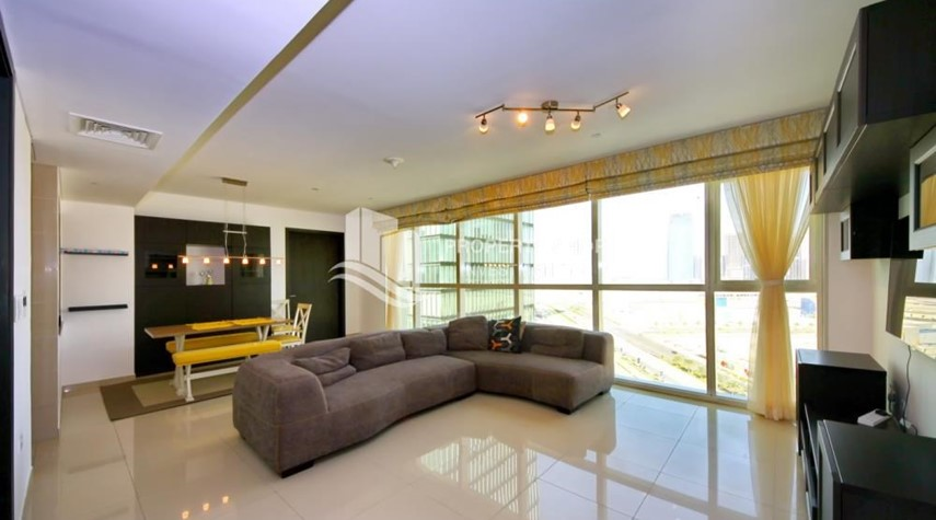 Living Room-High Floor Apt with Sea view with Multiple Cheques options!