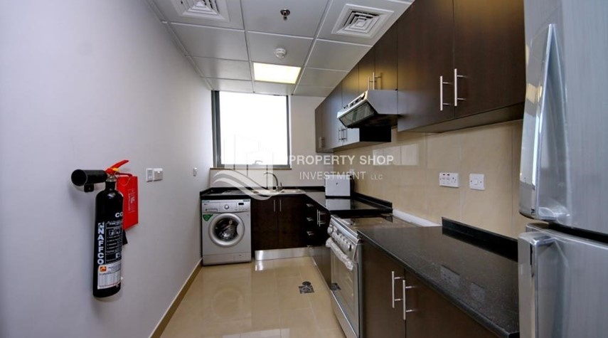 Kitchen-Sea view unit with full facilities.