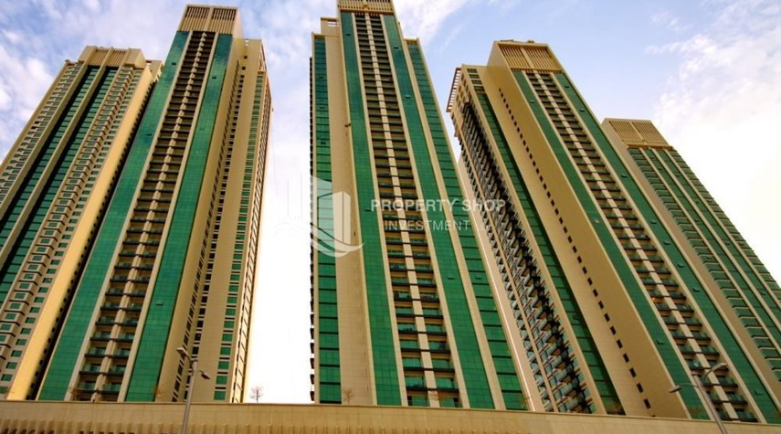 Property-Full sea view in a 2BR apartment with built in cabinet, balcony & free parking space in Al Maha Tower.