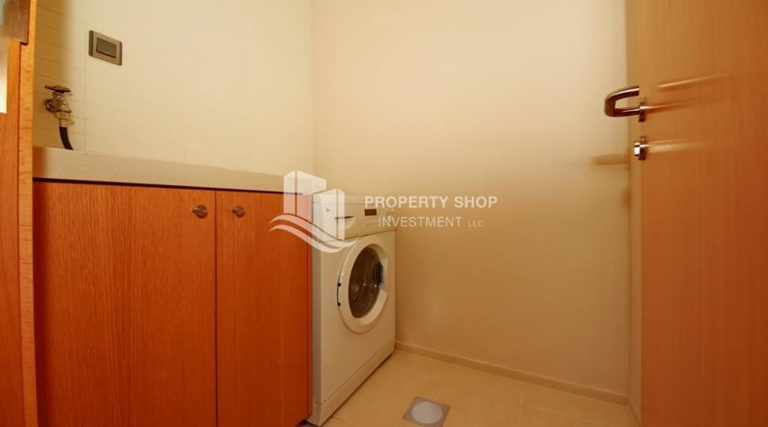 Laundry Room-4+M BR Apt on High Floor plus 2% Rent Free + 1 Month Rent Free in Al Raha Beach!
