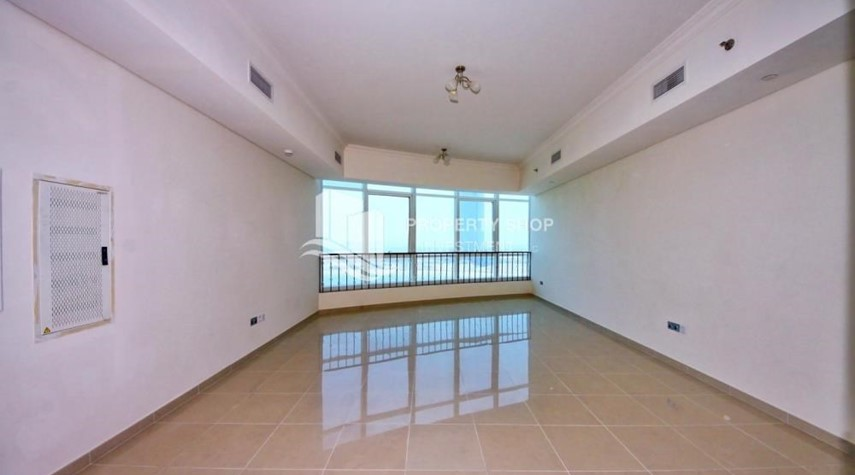 Living Room-HOT DEAL. Landmark living on the avenue. Own a 1 BR Sea View apartment in Hydra Avenue Tower.