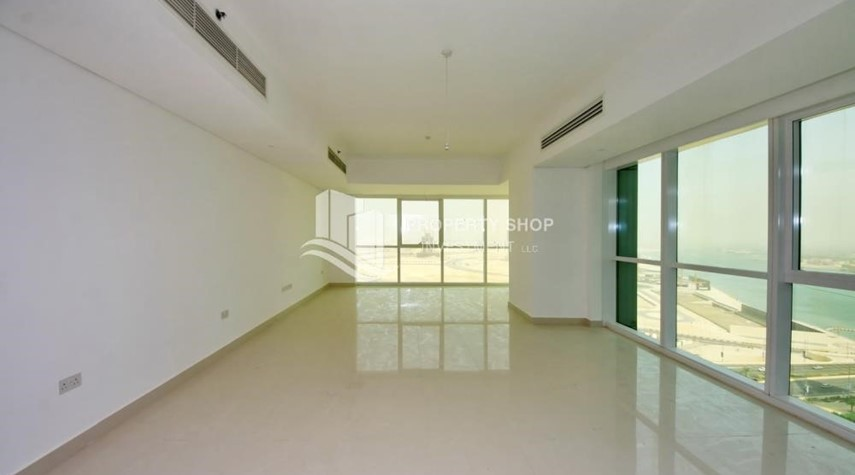 Living Room-Brand new tower in Al Reem Island ready to move in! Spacious bedrooms!