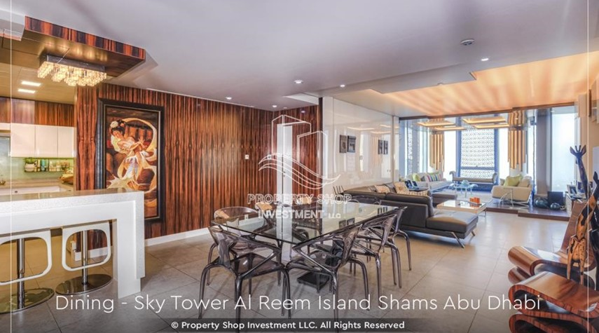 Dining Room-Own a high floor fully-furnished 2BR+M Apt with sea view plus skypod