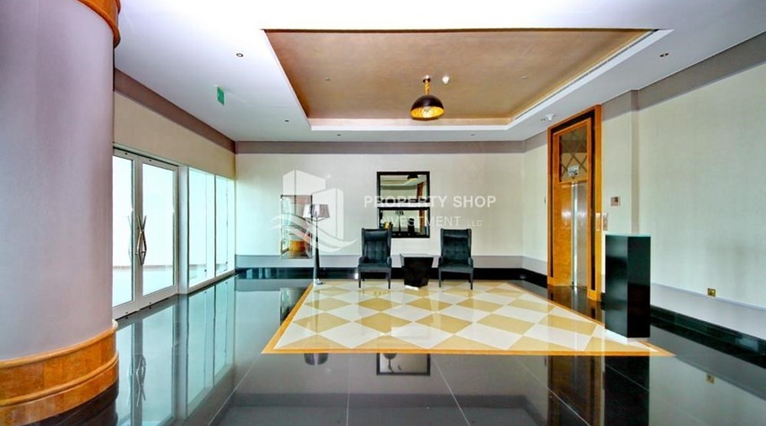 Lobby-Spacious 1BR with balcony and sea view.