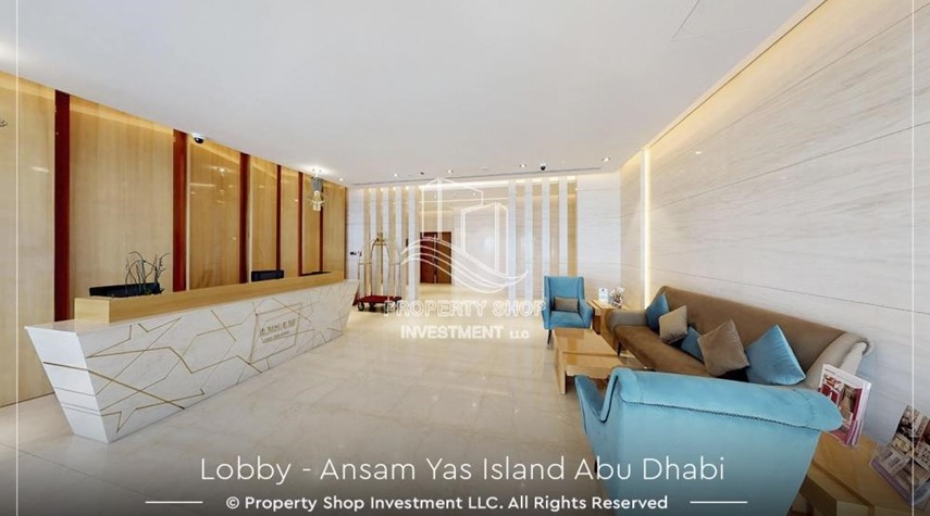 Lobby-Studio Apt with view of the island.