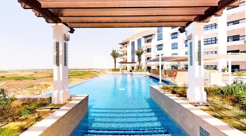 Facilities-Spacious 2 bedroom + maids with full golf and sea view