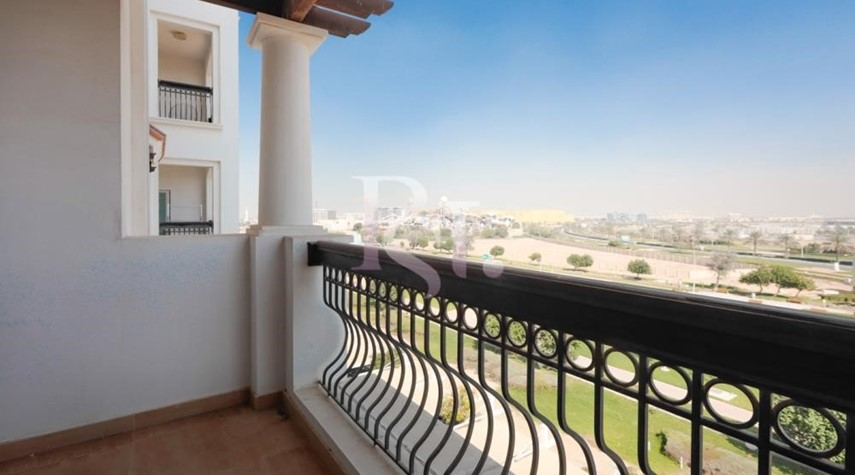 Balcony-Stunning 3+Maid with Partial Golf Course & Ferrari World View
