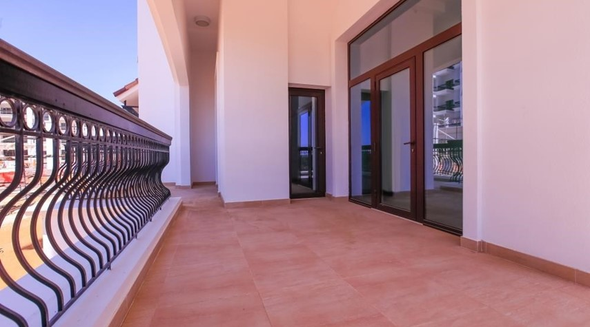 Balcony-Experience magnificent golf views in this exquisite 3BR property in Ansam.