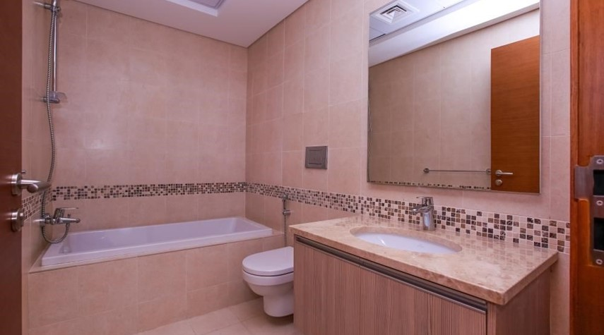 Bathroom-Experience magnificent golf views in this exquisite 3BR property in Ansam.