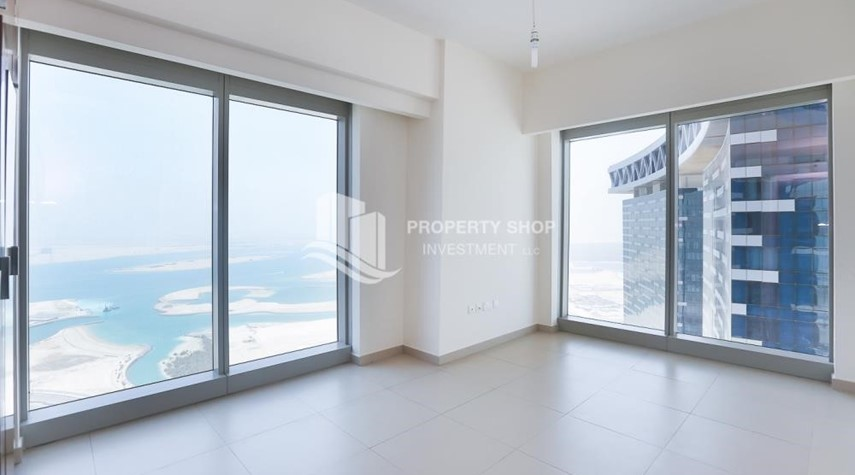 Bedroom-High quality interiors, High Floor, 3BHK+M apartment with Sea view, ZERO COMMISSION