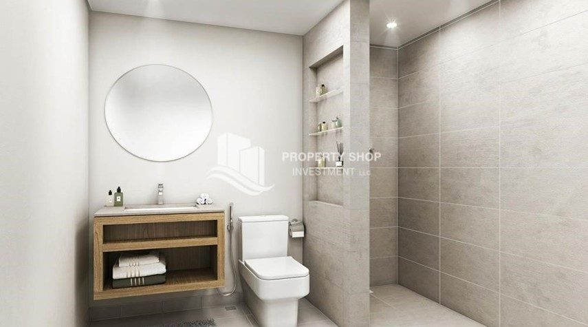 Bathroom-Pay AED 52,000 down payment for 1 bedroom | free ADM fees | zero commission