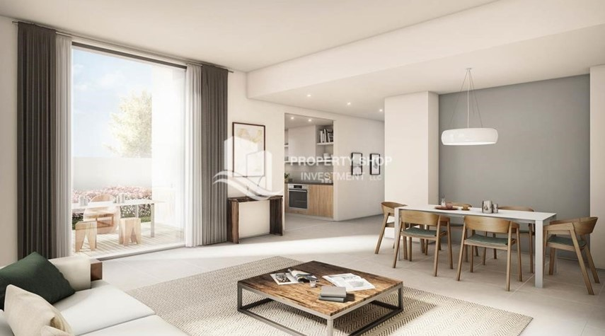 Living Room-Pay AED 52,000 down payment for 1 bedroom | free ADM fees | zero commission