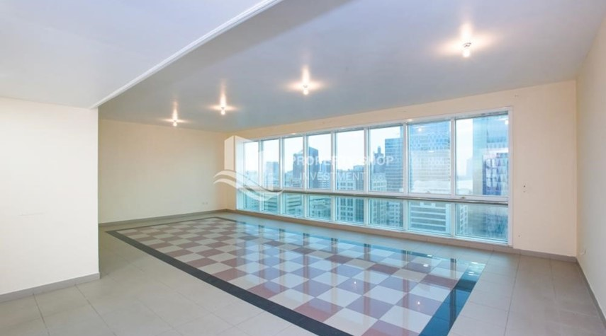 Living Room-Prestigious 3 Bedroom Apartment in Corniche Area for rent.