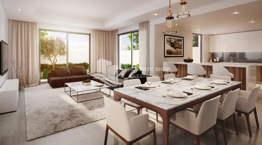 Dining Room-Own a property in a luxurious community in Yas Acres.