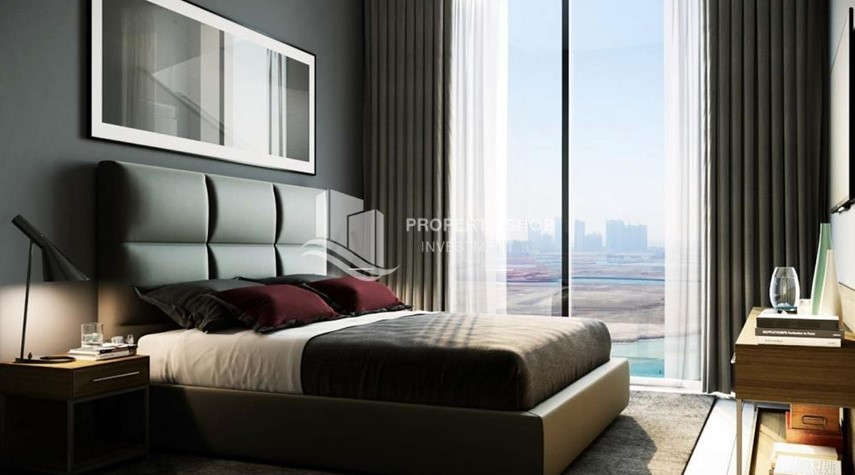 Bedroom-Stunning 1BR Apt with a breathtaking view of Al Reem canal.