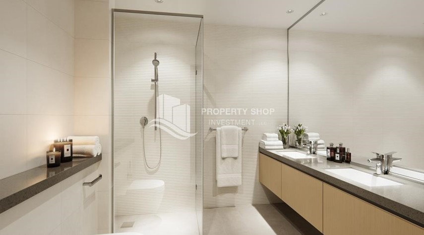 Bathroom-3BR+M in a brand new community in Yas Island.