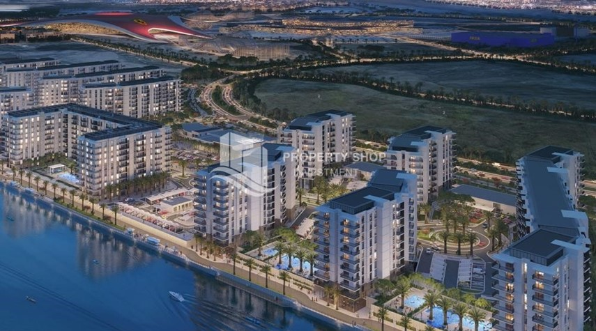 Property-3BR+M in a brand new community in Yas Island.