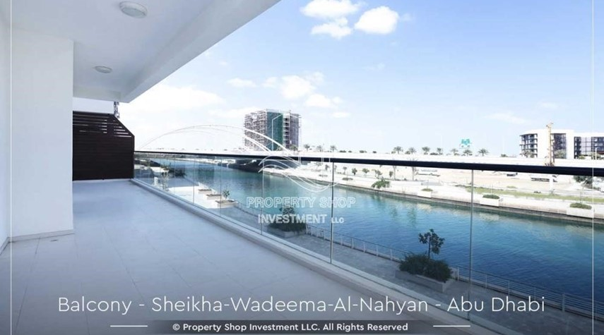 Balcony-Relaxed Ambiance in Al Raha Beach, 2BR+M Apt Available for rent!