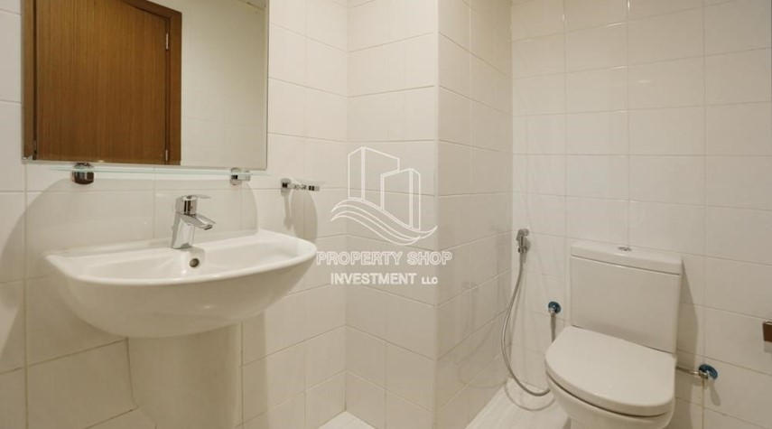 Bathroom-Relaxed Ambiance in Al Raha Beach, 2BR+M Apt Available for rent!