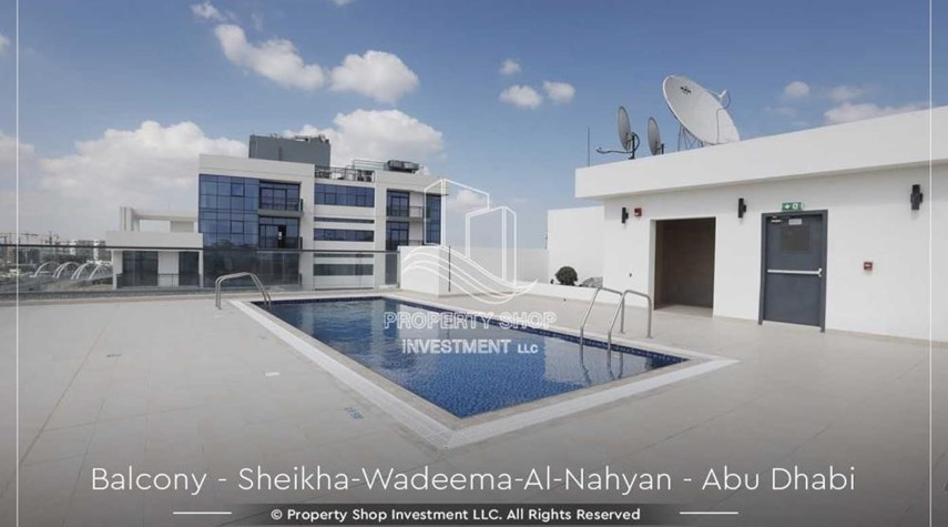 Facilities-Relaxed Ambiance in Al Raha Beach, 2BR+M Apt Available for rent!