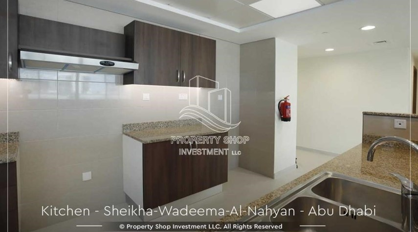 Kitchen-Relaxed Ambiance in Al Raha Beach, 2BR+M Apt Available for rent!