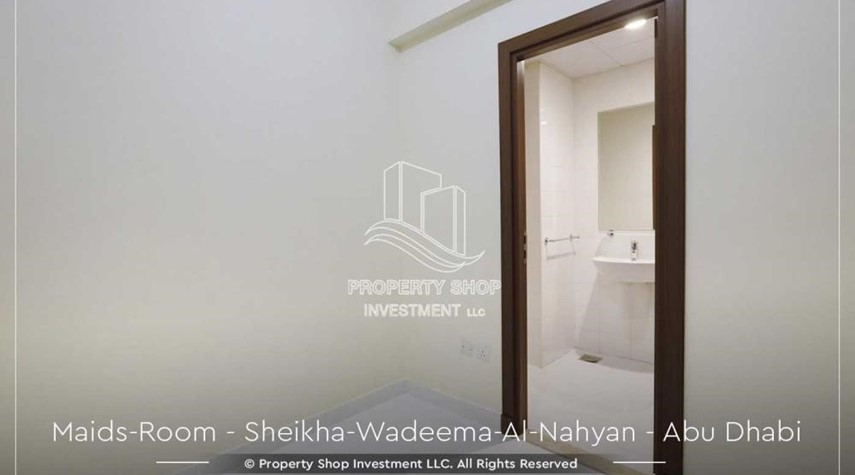 Maid Room-Relaxed Ambiance in Al Raha Beach, 2BR+M Apt Available for rent!
