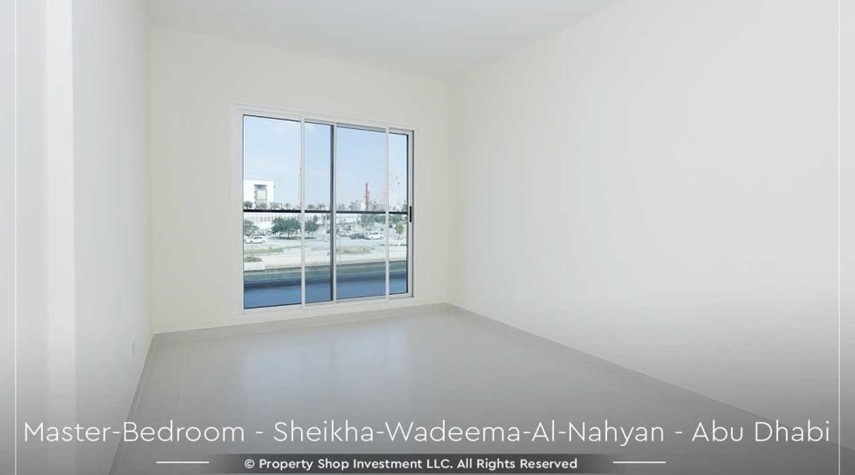 Master Bedroom-Relaxed Ambiance in Al Raha Beach, 2BR+M Apt Available for rent!