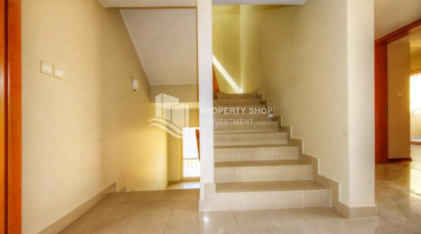 Stairs-4 bedroom villa, Type S in Al Raha Gardens for sale